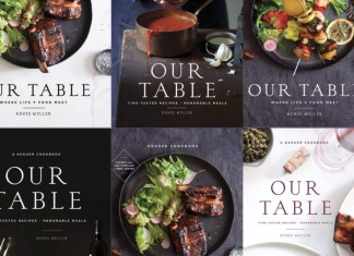 The original cover of Our table Cookbook by Renee Muller. Prop Rentals in NYC. Renee Muller's Our Table Cookbook. A memoir: How I wrote my first (and probably last) cookbook and almost lost my sanity along the way. Writing a cookbook isn't as glamorous as you might think.