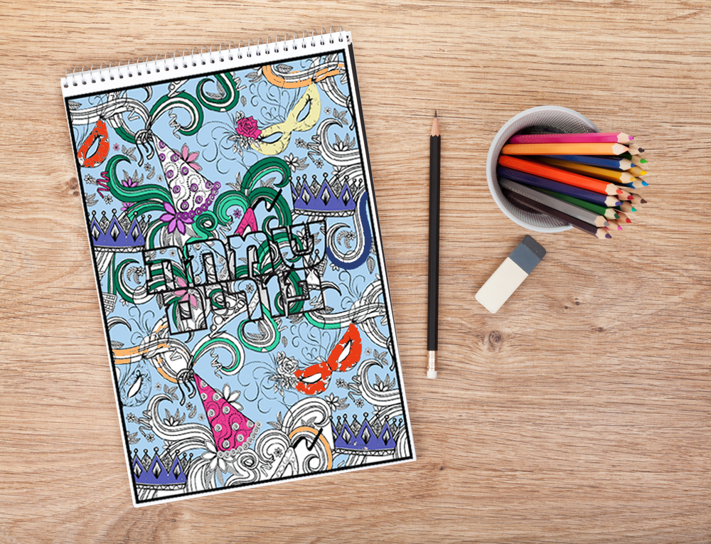 purim coloring pages for kids and adult purim coloring pages