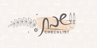 Download this Shabbos checklist and hang it on the door inside one of your kitchen cabinets. Even as Fridays get shorter, there's nothing to worry about. You'll be ready for Shabbos and you won't forget a thing.