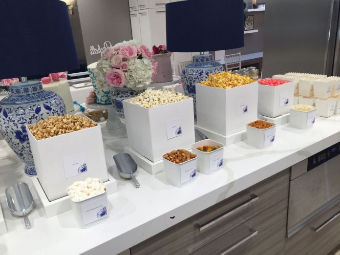 What's the Newest Fun Idea for Your Party? A Popcorn Bar. Sure, there's lots of desserts, donuts of course, and a salad bar and sushi bar. But the latest, most fun element of the sweet table is the Popcorn Bar.