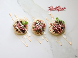 meal mart navel pastrami - Pastrami Pizzas Will Be the Hit Dish at Your Chanukah Party. Loved those little pastrami pizzas featured at our Chanukah party? You can prep all the components in advance and assemble before serving.