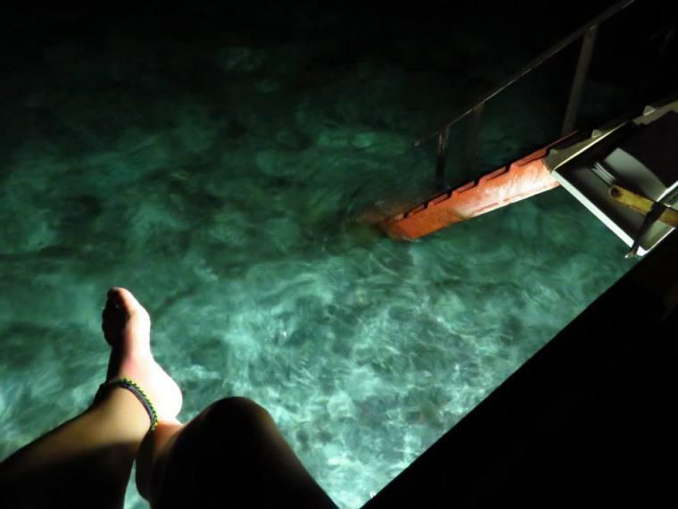 Maldives Water Bungalow Night