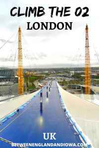 Walk over the O2 Arena London: Up At The O2