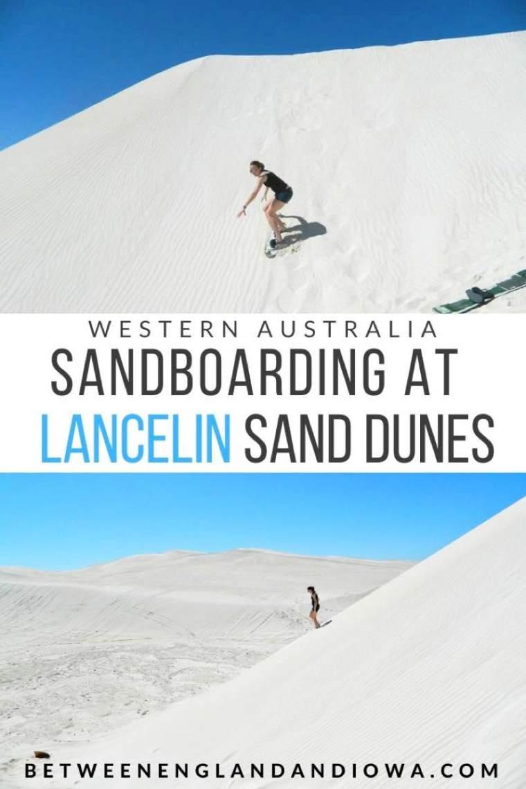 Lancelin Sandboarding.  Visiting Lancelin Sand Dunes in Western Australia