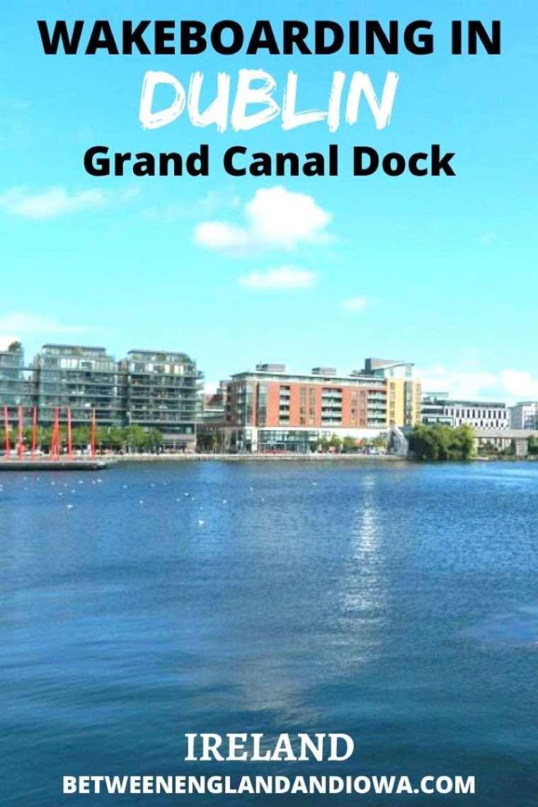 Wakeboarding in Dublin Grand Canal Dock