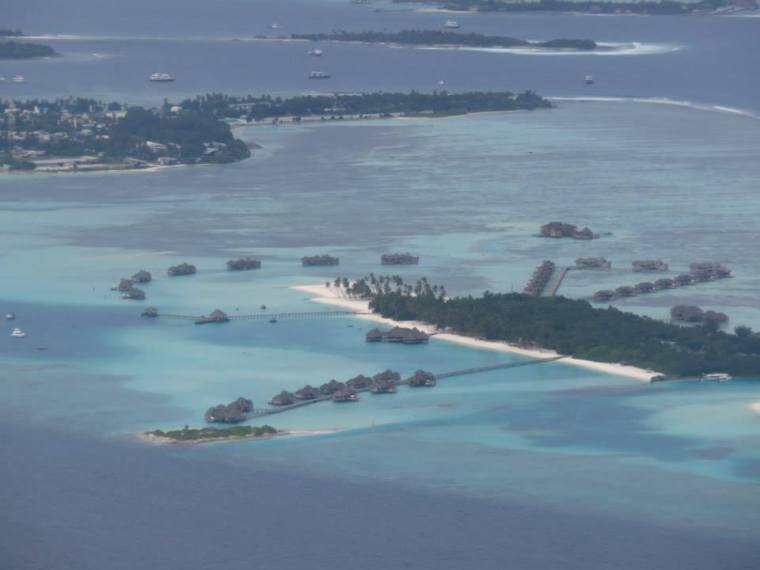Landing in Male Maldives