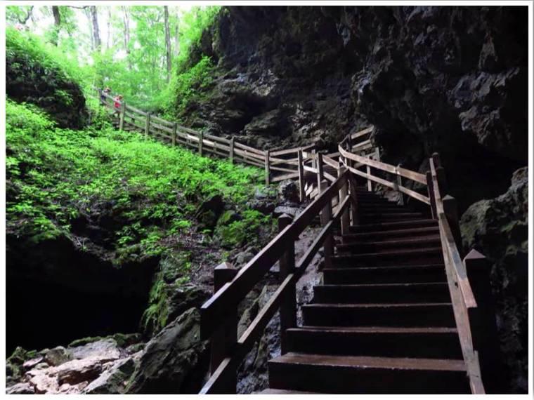 Maquoketa Caves Stairs