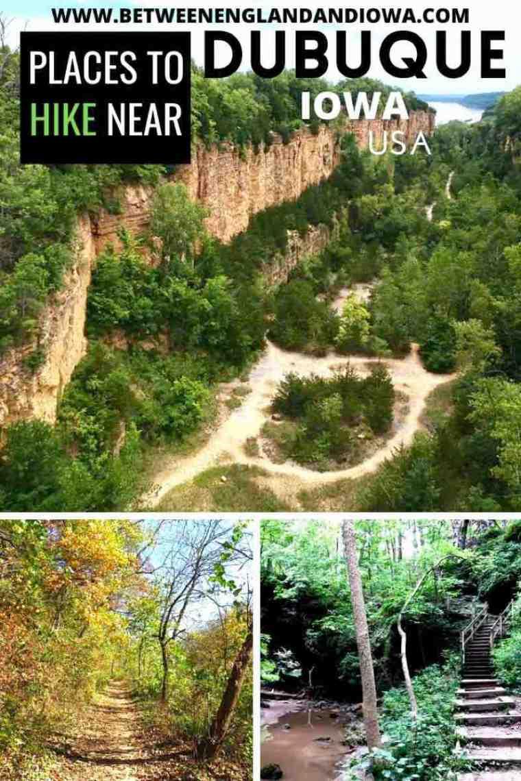 Places to go Hiking near Dubuque Iowa USA