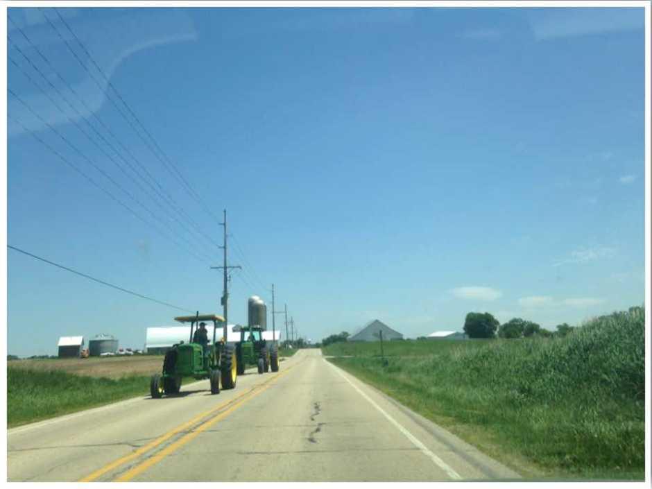 Driving in Iowa USA