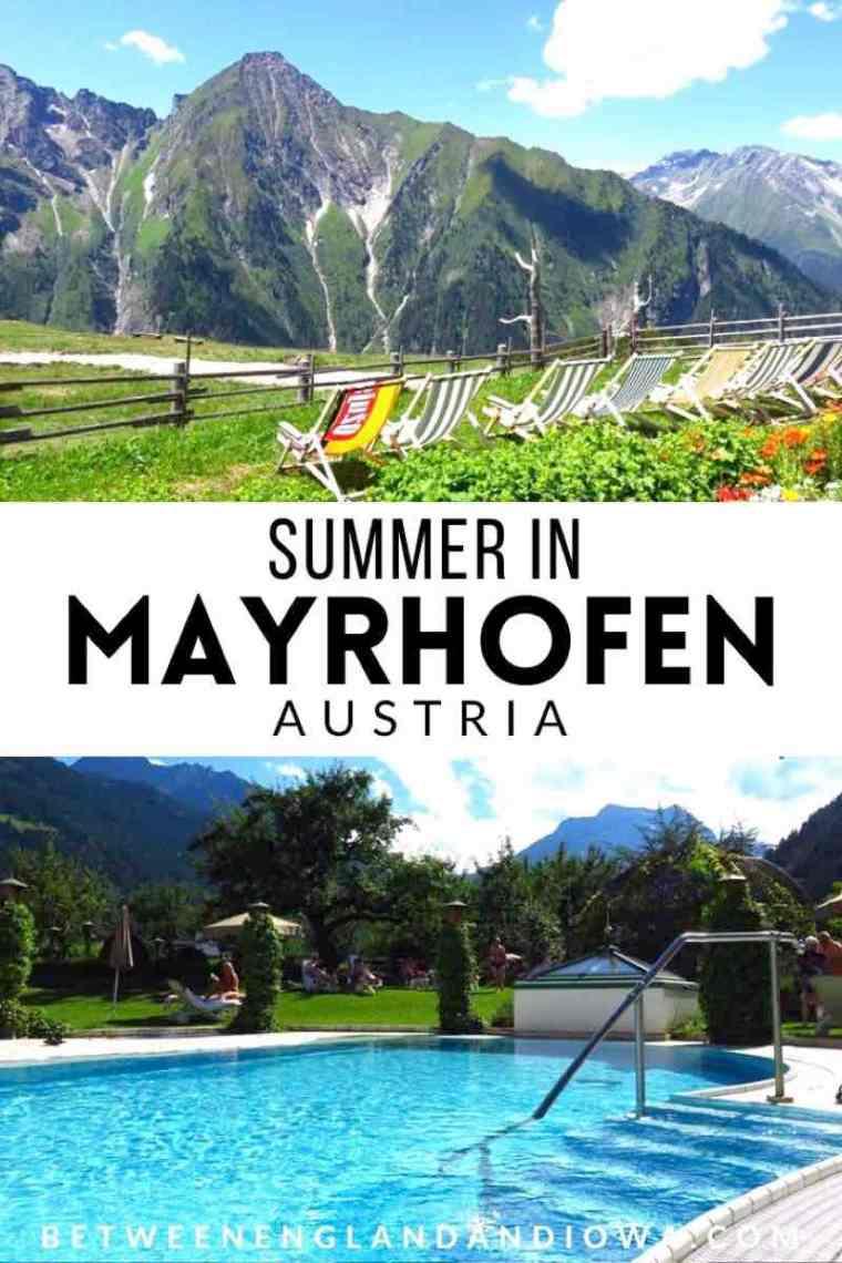 Summer in Mayrhofen Austria