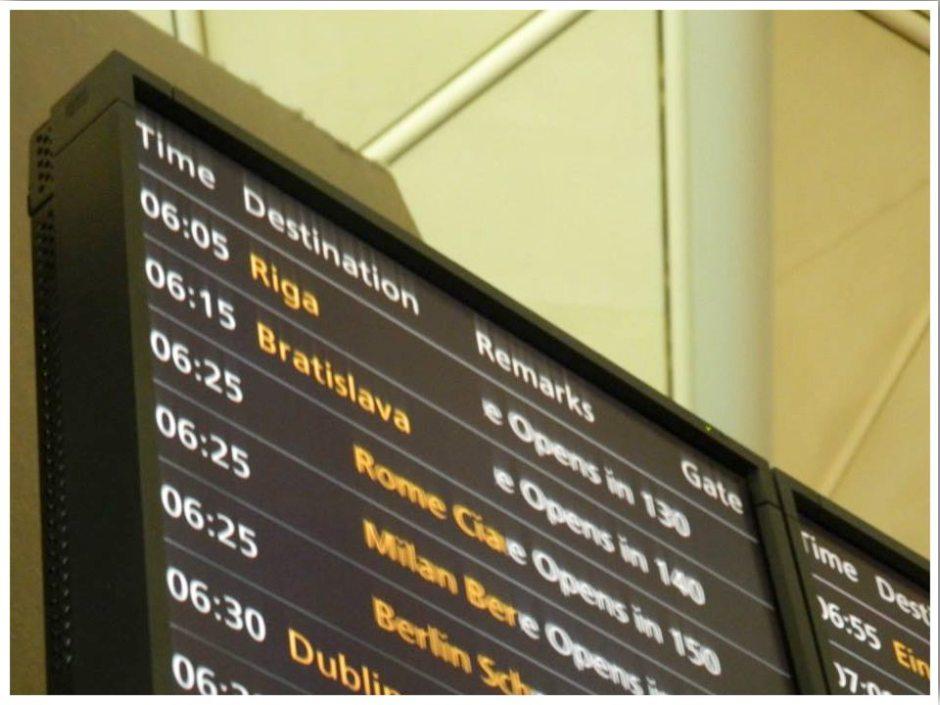 Airport Departure Board