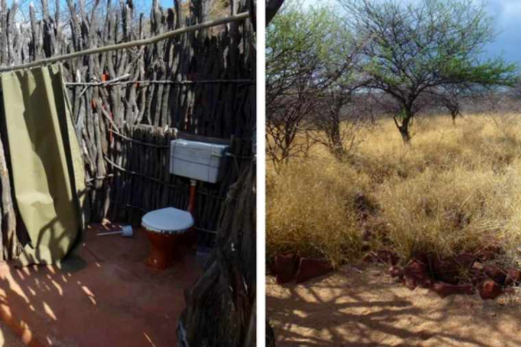 Namibia Toilets ZigZag On Earth