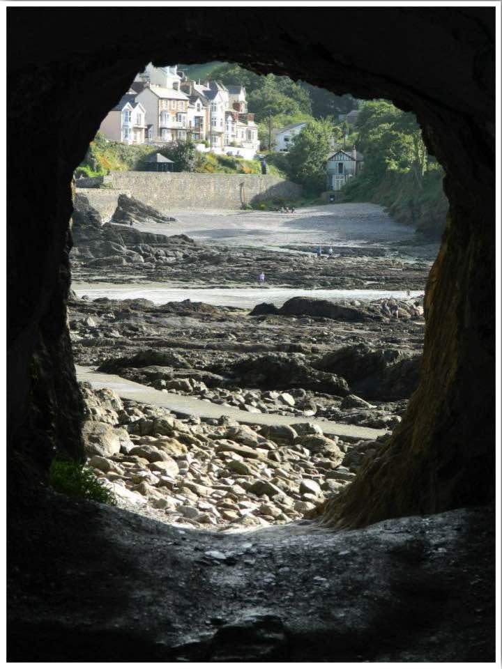North Devon Combe Martin Beach Cave