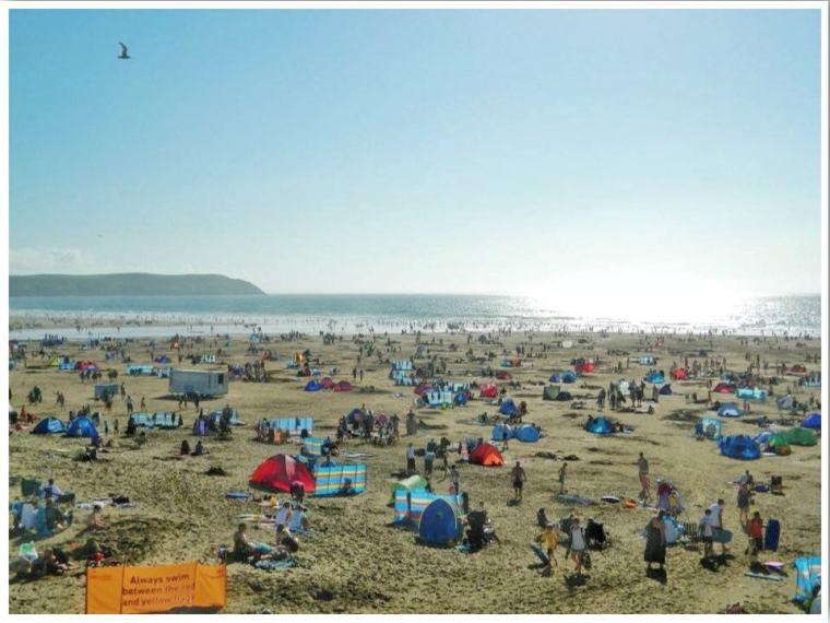 North Devon Woolacombe Beach Summer