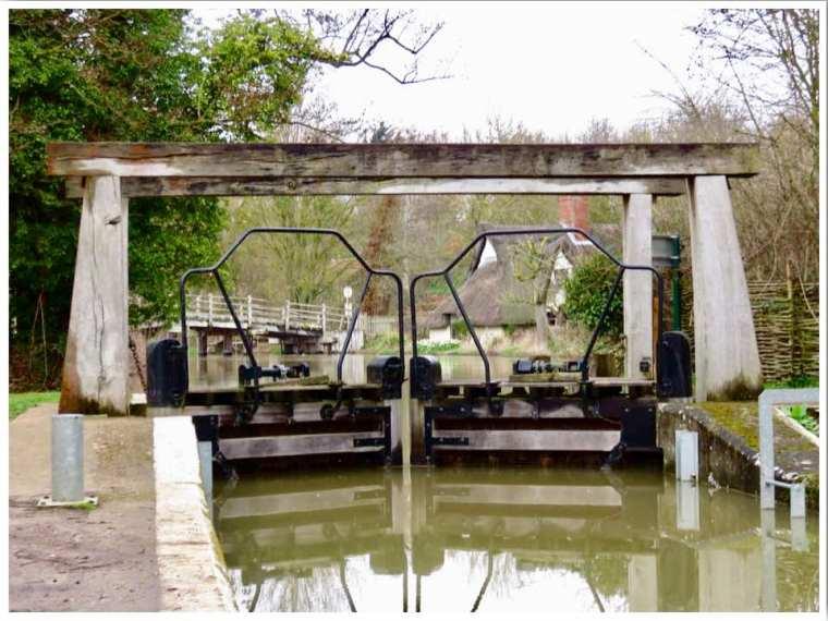 Flatford Lock Suffolk