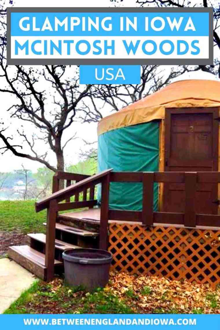 Glamping in Iowa - Yurts in McIntosh Woods State Park near Clear Lake and Mason City