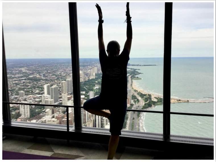 360 yoga at the John Hancock Observatory Chicago