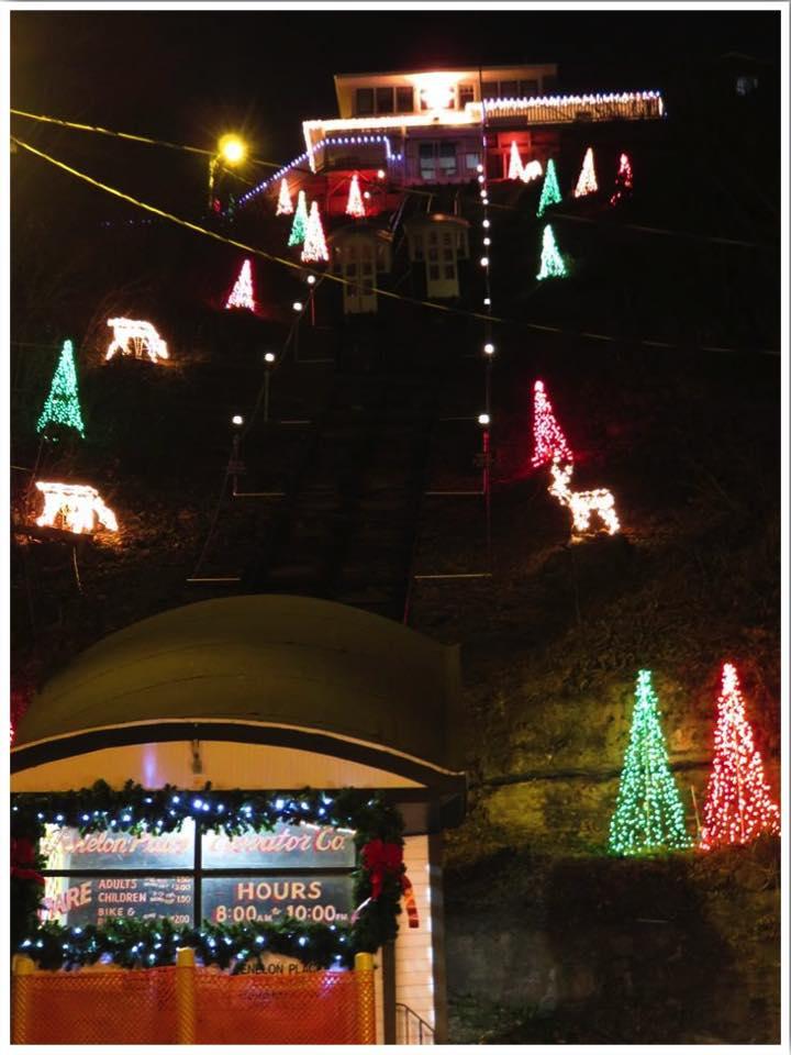 Dubuque Christmas Events Fenelon Place Elevator Iowa USA