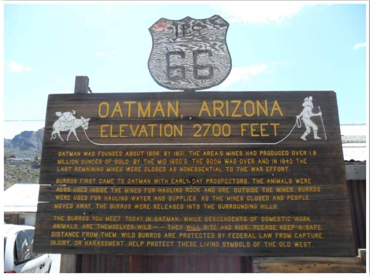 Sitgreaves Pass Oatman Arizona Route 66