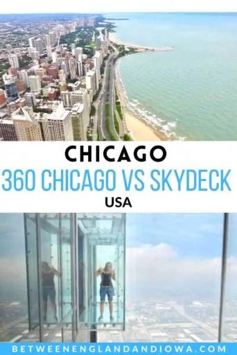 360 Chicago vs Skydeck Chicago USA