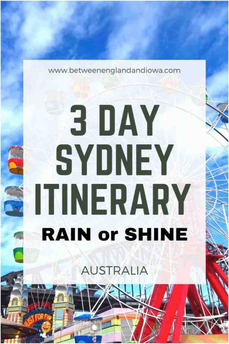 3 Day Sydney Itinerary Australia
