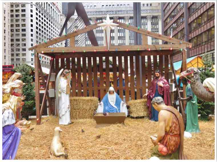 Christkindlmarket Nativity Scene Chicago