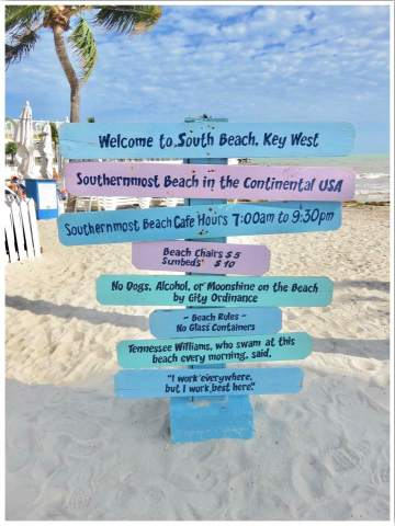 Key West Beaches. South Beach, the southernmost beach in the USA!