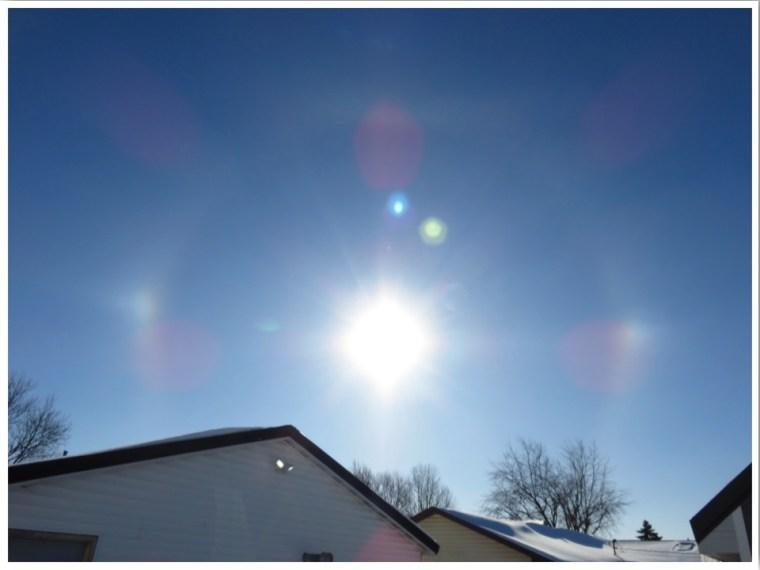 Polar Vortex Sundog and halo