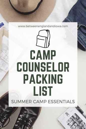 Camp Counselor Packing List: Summer Camp Essentials