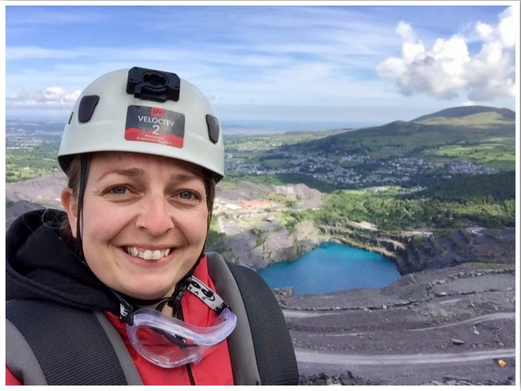 Zip World Wales top of the fastest zip wire in the world