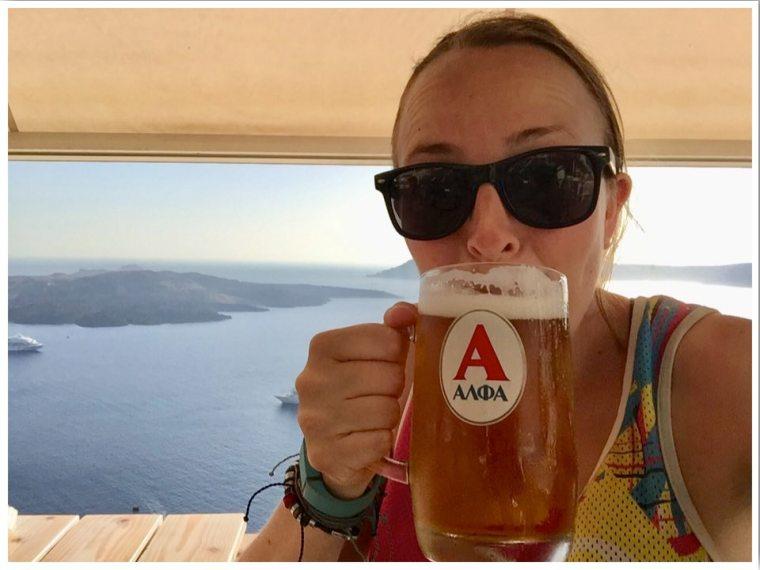 Alfa Greek Beer Fira Santorini