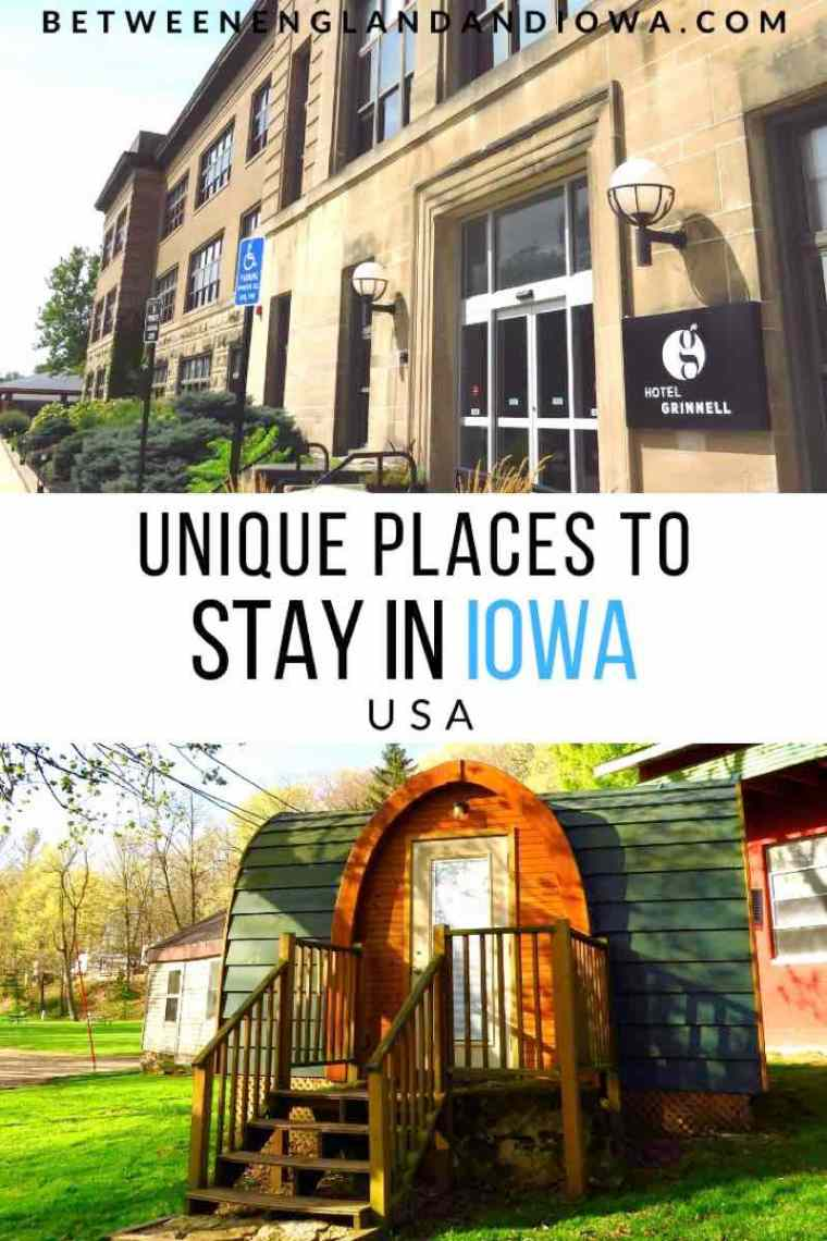 Cool places to stay in Iowa USA
