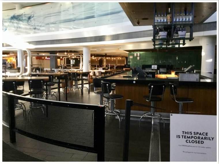June 2020 Chicago ORD International Terminal 5 Closed Restaurants