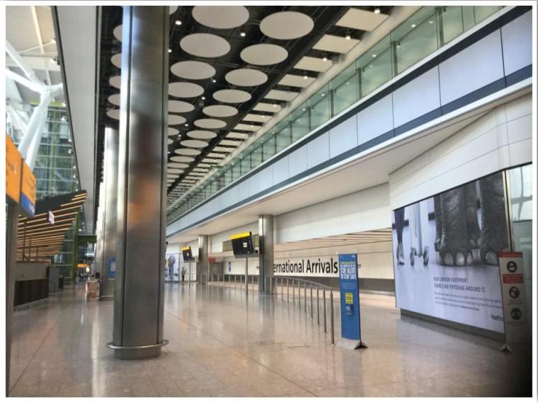 London Heathrow T5 International Arrivals Empty June 2020