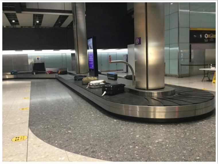 London Heathrow T5 Baggage Reclaim Empty June 2020