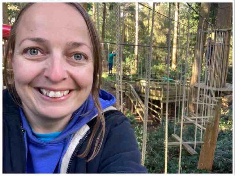 Treetop Challenge Go Ape Selfie