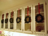 Decorate Kitchen Cabinets with Preserved Boxwood Wreaths ...