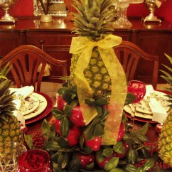 Diy Kitchen Tables Outdoor Appliances Colonial Williamsburg Christmas Table Setting With Apple ...