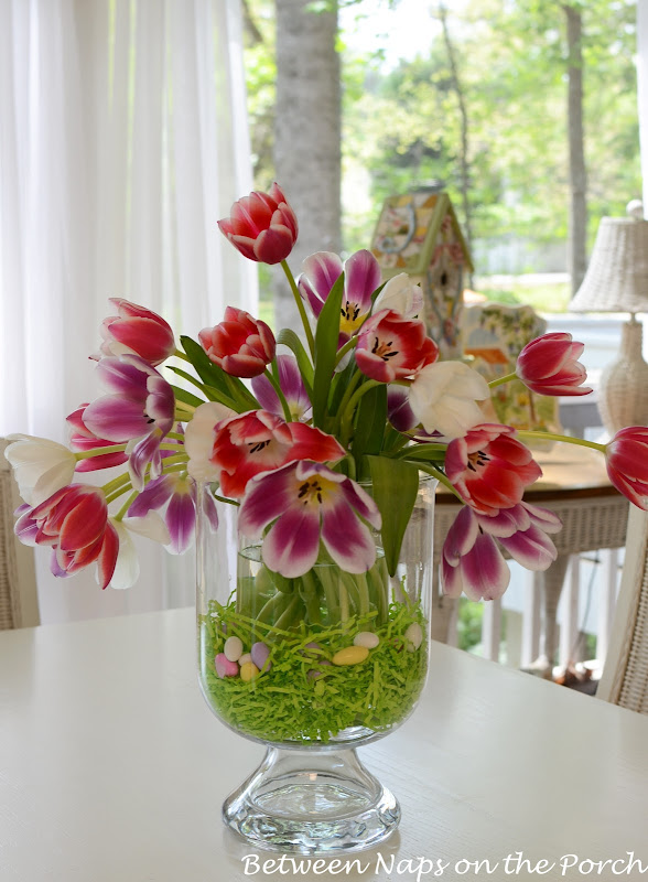 Easter Tulip Centerpiece in Pottery Barn Knockoff Double
