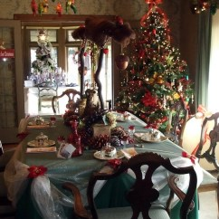 Kitchen Decorating Ideas Tall Square Table For Christmas