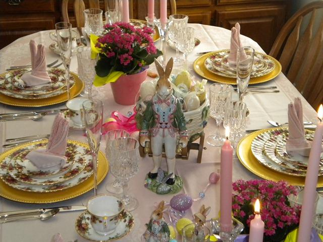 Easter Table Settings Tablescapes with Old Country Roses China by Royal Albert and Fitz and