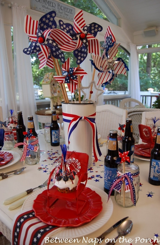 Make An Easy Centerpiece Or Table Decoration The 4th Of July