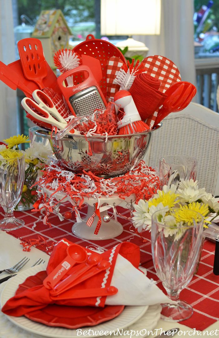 kitchen bridal shower touch free faucet easy centerpiece for a gadgets between naps tablescape