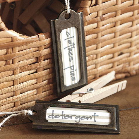 Labeling The Closet Expedit Baskets With Hanging Tags
