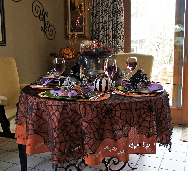 beach themed kitchen decor cabinets lowes two whimsical halloween tablescapes