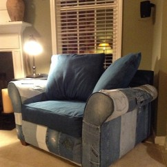 How To Recycle My Sofa Henredon Slipcovers Upholster A Chair With Denim From Old Jeans