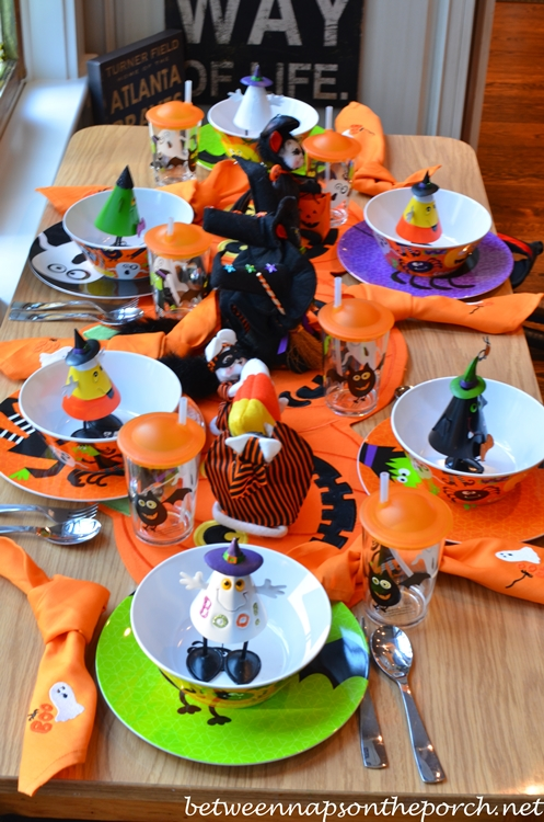 Halloween Table Setting Tablescape For Children