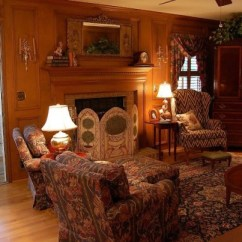 Old English Living Room Designs Furnishing For Small An Autumn Mantel And Fire Screen Between Naps On The Porch With Judges Paneling Decorate In Country Style