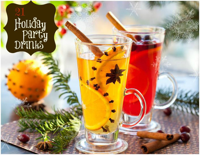 21 Holiday Party Drinks Non-Alcoholic and With Alcohol