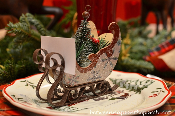 Christmas Ornaments Make Inexpensive Napkin Rings And